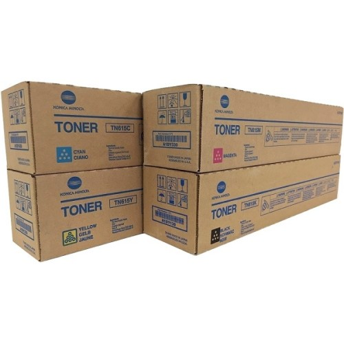 Kit Toner TN615 - Preto, Magenta, Cyan e Amarelo